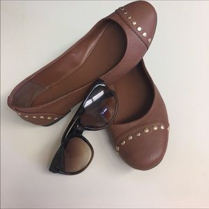 Candie's Shoes - ✨Candies-CUTE brown flats gold studs-perfect☀️