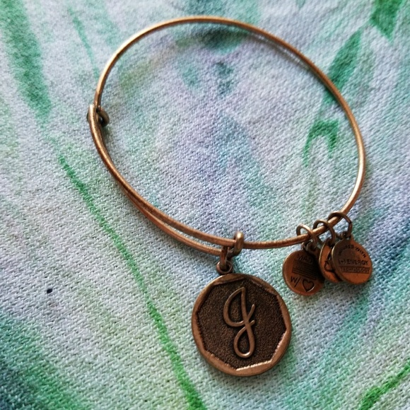 Letter J Bracelet 36 Off Alex Ani Jewelry Alex And Ani Energy
