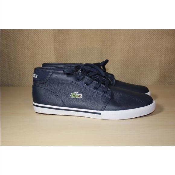 17d4c03fec3a8 Lacoste Men s Ampthill G416 1 Navy Sneakers