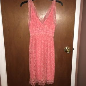 ALLOY Dresses & Skirts - New w/o tags Peach/Pink Lace overlay Summer Dress