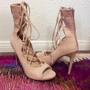SHOE REPUBLIC LA Shoes - SHOE REPUBLIC LA | Lace Up Heeled Sandals