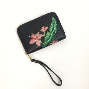 bebe Handbags - [NEW LISTING!] Embroidered Floral Wallet