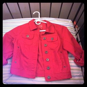 Highway Jeans Jackets & Blazers - Red Denim Cropped Jacket