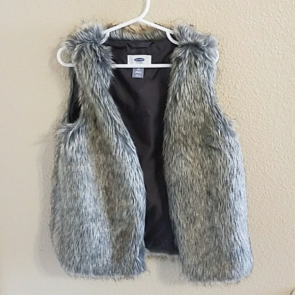 Old Navy Jackets Amp Coats Faux Fur Vest Girls Size 8