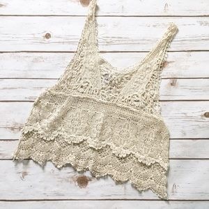 Poetry Tops - Poetry Ivory Lace Tank Top
