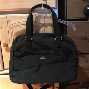 Large black Kipling handbag in Black Sasso
