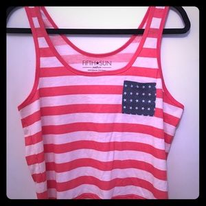 Fifth Sun Tops - NWOT AMERICAN FLAG CROP TOP