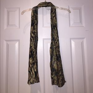 Black and gold sparkly scarf/wrap