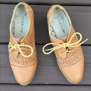Aphorism Shoes - Cognac Oxfords