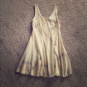 Free People M pastel scoop neck dress