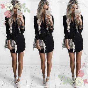 Dresses & Skirts - Casual Long Sleeve Shirt Dress