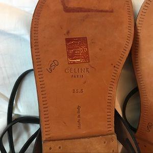 Celine Shoes - Authentic Celine Leather Sandals - NWOT!