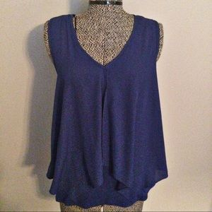 Bar ||| navy sleeveless top