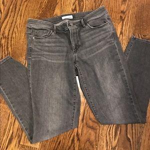 Loft gray skinny jeans