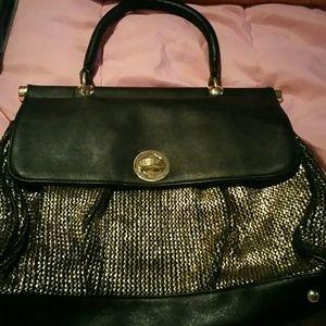 Jennifer Lopez Handbags - Jennifer Lopez Black & Gold hand bag