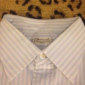 Charvet Other - Charvet Blue Stripe Dress Shirt 15.5 34/35