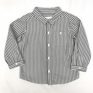 BURBERRY Striped Button Down Top