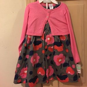 Carter's Other - Carter's NWT Dress and Sweater Set