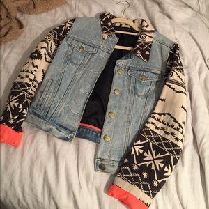 Scotch & Soda Jackets & Blazers - Tribal-Trim Denim Jacket