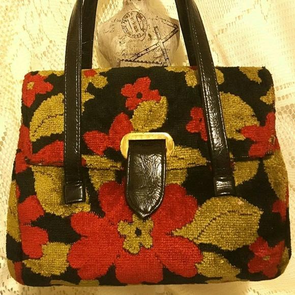 f4e2f1b7ceca JR Florida Handbags - Sale!!! Vintage JR Florida Tapestry Carpet Handbag