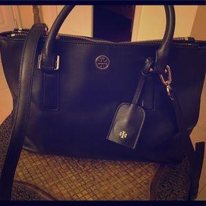 Black Tory Burch Saffron leather handbag