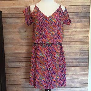 Amanda Uprichard Dresses & Skirts - Amanda uprichard cold shoulder pattern dress