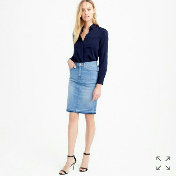 64 j crew dresses skirts j crew frayed denim
