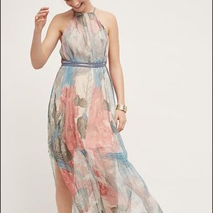 Anthropologie Dresses & Skirts - Sea star chiffon maxi dress