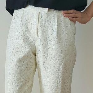 Pim + Larkin  Ivory Lace Pants