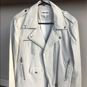 american retro Jackets & Blazers - American Retro White Leather Jacket size M