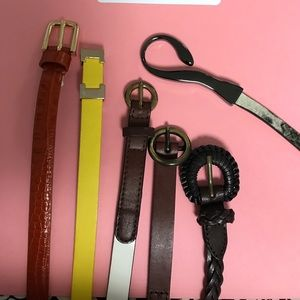 Accessories - 💯 Leather Skinny Belts
