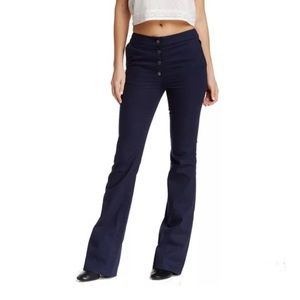 valette Pants - Valette navy blue high rise flare pants size 8 NWT