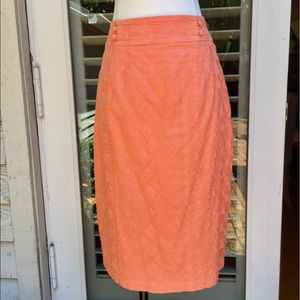 Anthropologie Coral Pencil Skirt