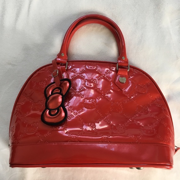Hello Kitty Handbags - Red Patent Hello Kitty Purse 1231fa15ff113