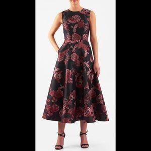 eshakti Dresses & Skirts - New Eshakti Rose Fit & Flare Midi Dress 20W