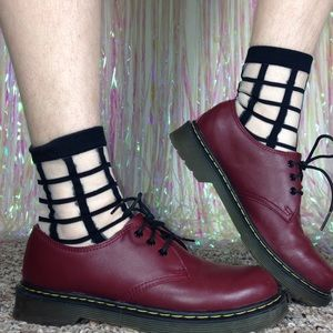 Dr. Martens Shoes - Dr. Martens Cherry Red Leather 3 Eye Oxfords