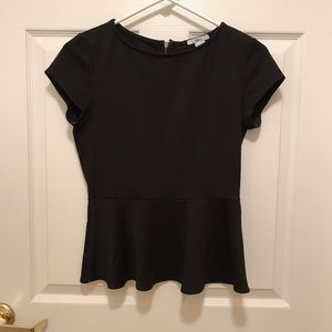 Peplum short sleeve top