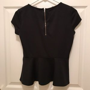 Bar III Tops - Peplum short sleeve top
