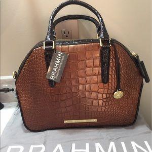 Brahmin Handbags - Brahmin Hudson in Bronze Sienna