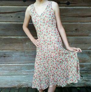 Ralph Lauren Dresses - Ralph Lauren Sleeveless Flowered Dress 100% Silk