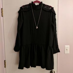 Endless Rose Dresses & Skirts - Long-sleeve black mini dress- never been worn!
