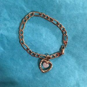 Beautiful 10k Gold Heart Bracelet
