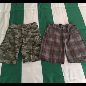 Hurley Other - Boys size 6 shorts camo plaid Hurley