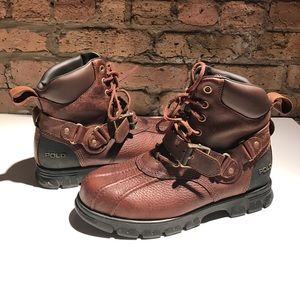 Mens Polo Ralph Lauren Steel Toe Boot