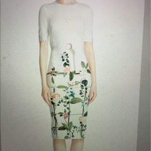 Ted Baker London white floral dress size 10