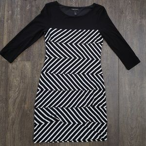 White House Black Market Tiered Stripe Dress WHBM