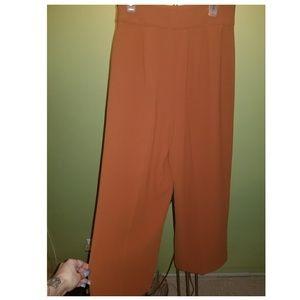 Zara Womens Wide Leg Culottes Pants