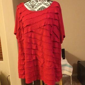 AB Studio Tops - AB Studio Woman size 3X Red NWT