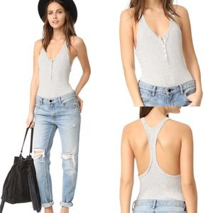 🍓FIRM🍓 Free People Intimately Gray Bodysuit L