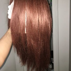 Accessories - Lace front synthetic red wig